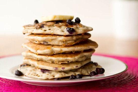 Vegan & Gluten Free Vanilla Blueberry Buckwheat Pancakes