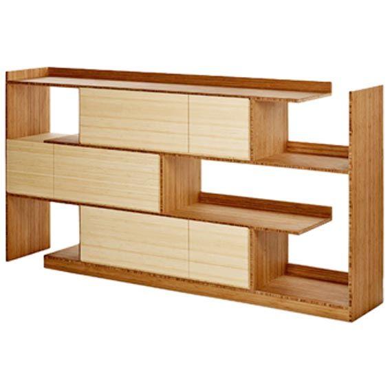 innovative bamboo staggered shelf design shelves pinterest