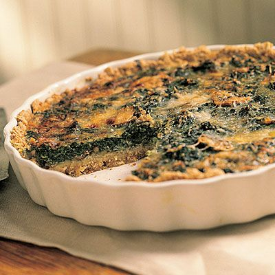 Healthy Mushroom-and-Spinach Quiche in an Oat Crust Recipes (not white ...