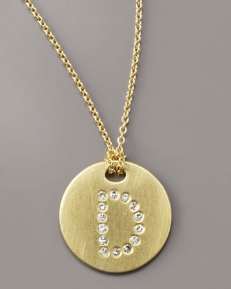 letter medallion necklace d by roberto coin at neiman marcus