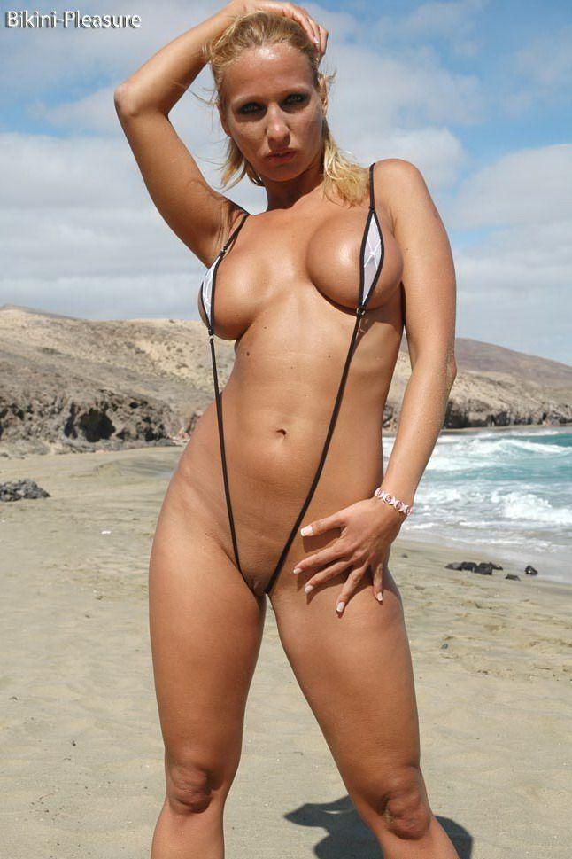 Slingshot bikini at beach