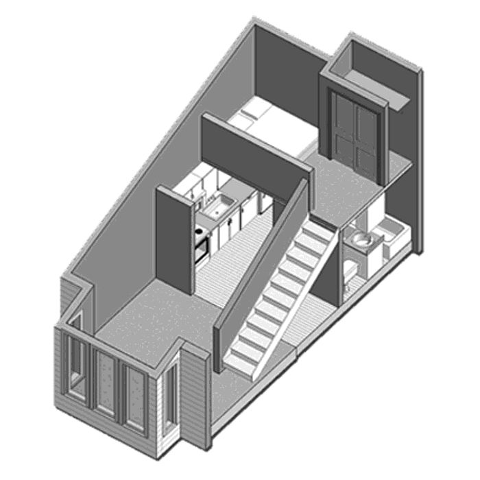 Loft apartment floor plan houses pinterest House with loft floor plans