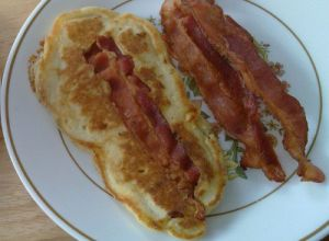 Bacon Strip Pancakes | food & drinks | Pinterest