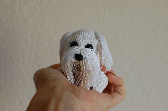 Maltese Crochet Patterns : Amigurumi Little Maltese Dog by ZayaLosya on Etsy, $18.00