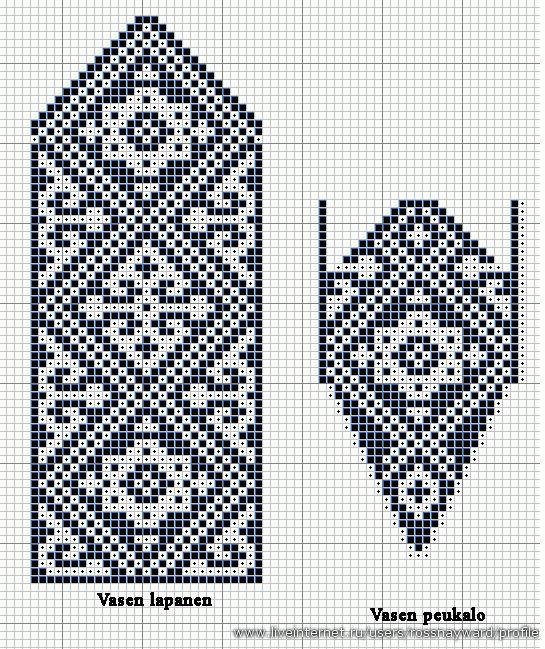 Вязание варежек узоры 53