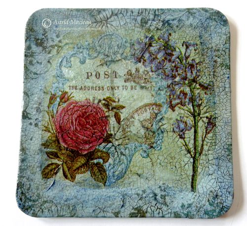 Crackle Finish Decoupage