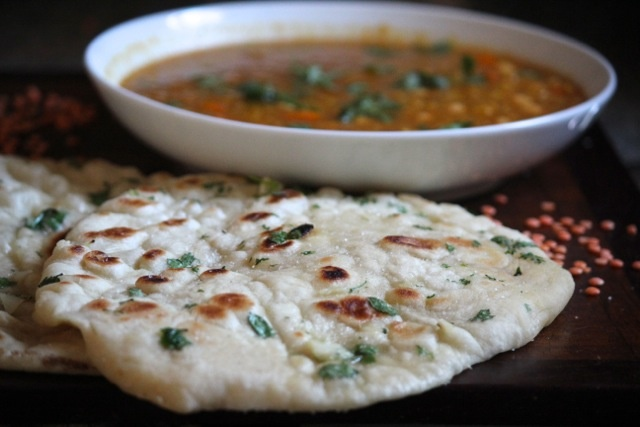 Homemade Naan with Garlic & Cilantro - Alaska from Scratch