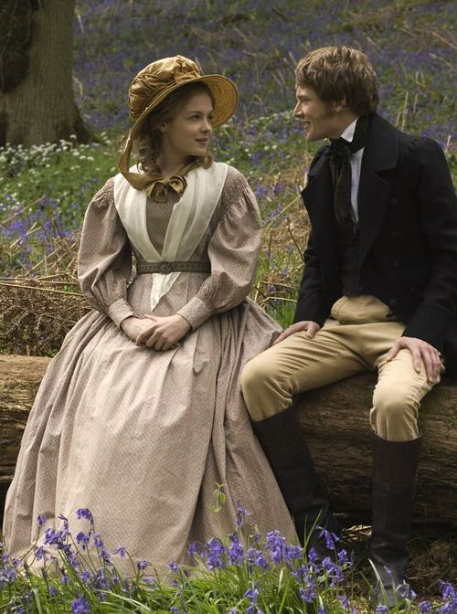 Kimberley Nixon as Sophy Hutton and Simon Woods as Dr. Harrison in Cranford (TV Mini-Series, 2007). - c.1842