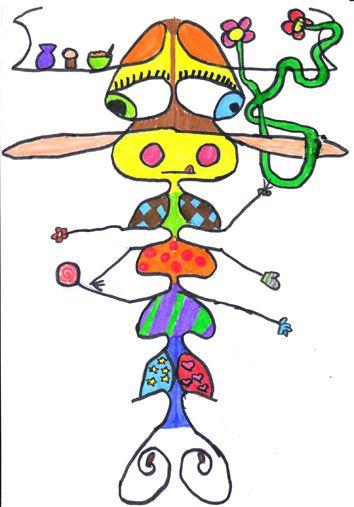 Johanna, symmetrical name creatures | Art class ideas 2 | Pinterest