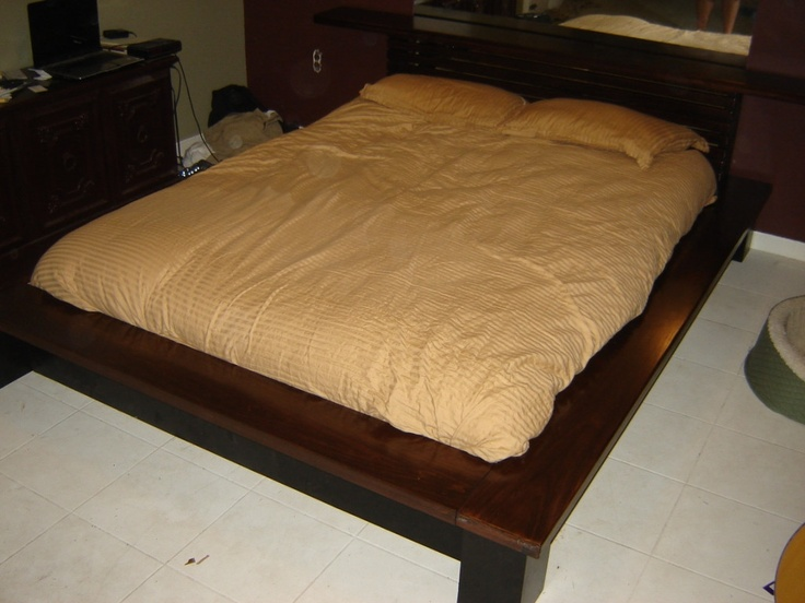 How to make a platform bed with headboard for How to make your own platform bed