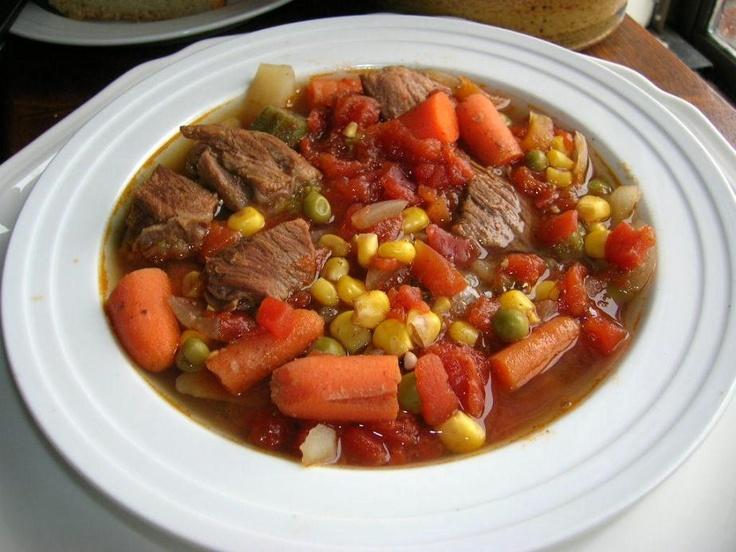 HOMEMADE VEGETABLE BEEF SOUP | soups | Pinterest