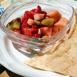 Fruit salsa and cinnamon chip - yum! | Treats, Sweets, and More | Pin ...