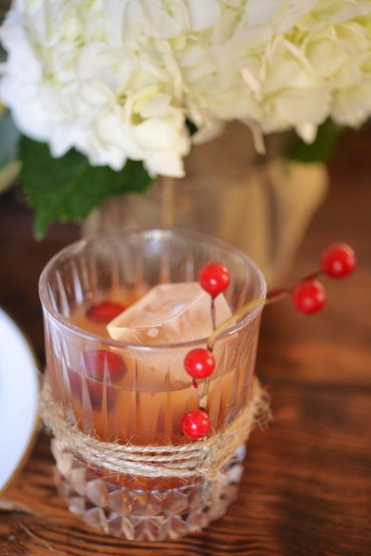cranberry old fashioned | JM | Pinterest