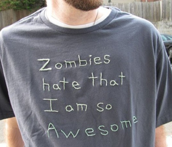 Zombie Stitching Tee  by tinaseamonster - love this!
