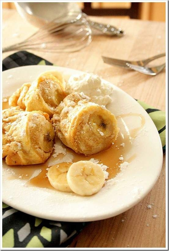 Peanut butter and banana popovers | Desserts | Pinterest