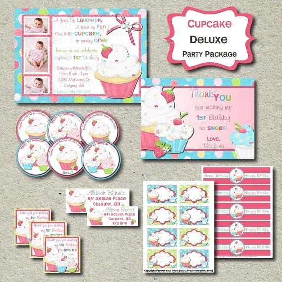 Cupcake Birthday printables | Birthday ideas | Pinterest