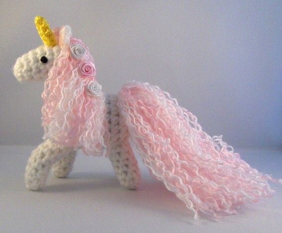Crochet Unicorn : Crochet Unicorn Pinkie the Unicorn