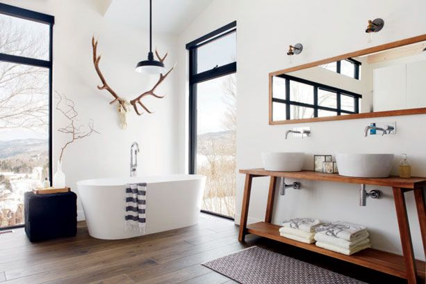 Pin by sabrina morissette on dream home pinterest for Salle de bain epuree
