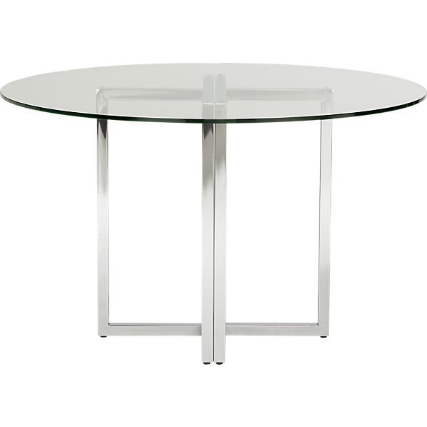 Round Glass Kitchen Table Home Pinterest