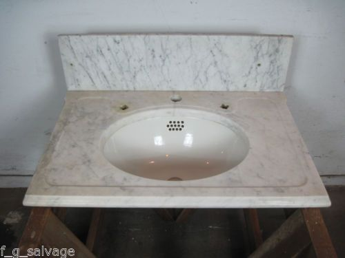 Antique Marble Sink : Antique Vintage Marble Top Sink w/TePeCo Basin Victorian Sink
