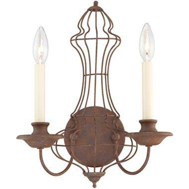 Laila Rustic Antique Bronze Two-Light Wall Sconce - jcpenney | Love