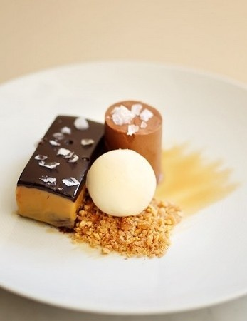 "Bar"" with Brownie, Caramel, Roasted Milk Chocolate Cremeaux and Nougat ..."