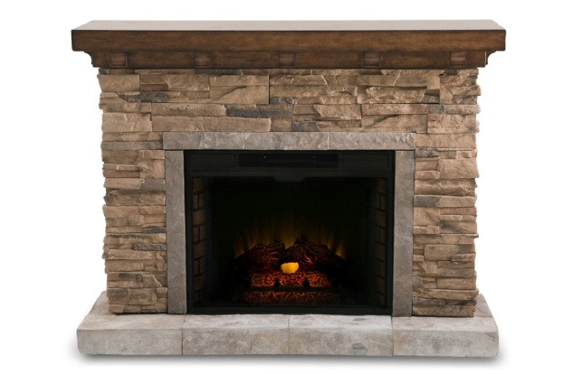 stone electric fireplace home fireplaces pinterest