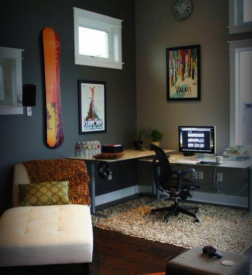 rug under desk apartment pinterest