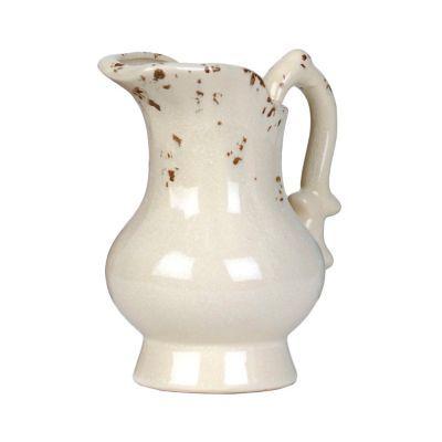 Distressed Ivory Ceramic Pitcher Vase | Kirklands