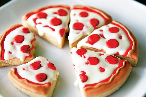 ... Party. Could decorate a giant sugar cookie like a pizza. So cute