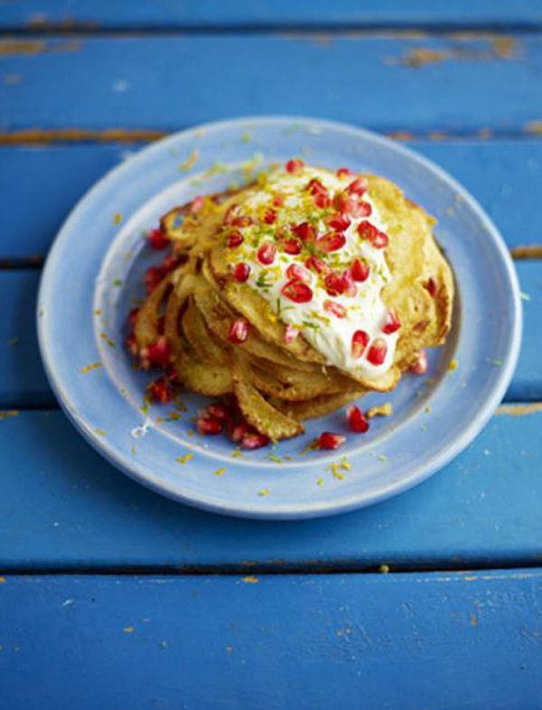 Recipe: Jamie Oliver's Coconut and Pomegranate Pancakes