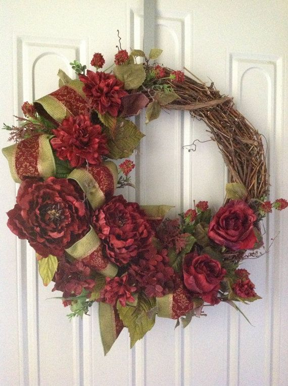Grapevine wreath fall wreath home decor wreath Decorative wreaths for home
