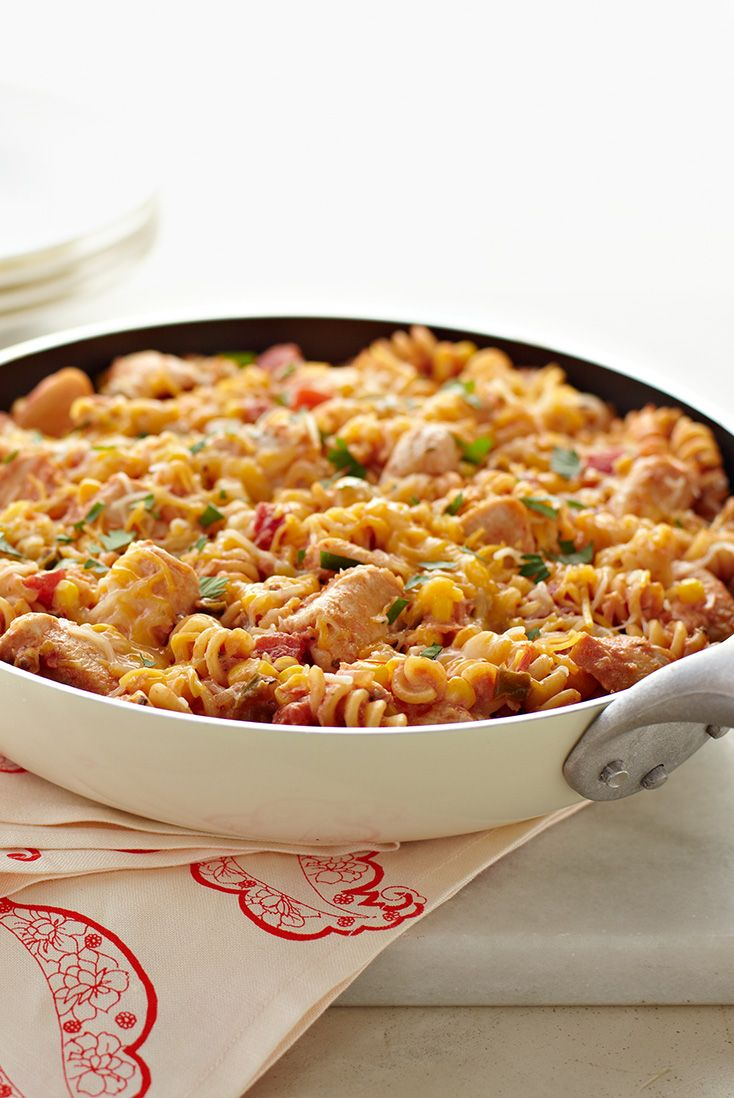 for a quick skillet idea that combines spicy salsa and cheesy chicken ...