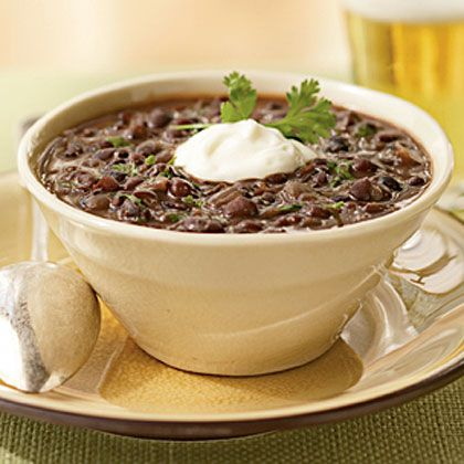 Black Bean Soup Cumin and fiery serrano chile infuse this simple soup ...