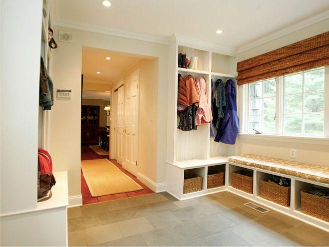Mudroom breezeway from garage mud rooms pinterest for Garage mudroom ideas