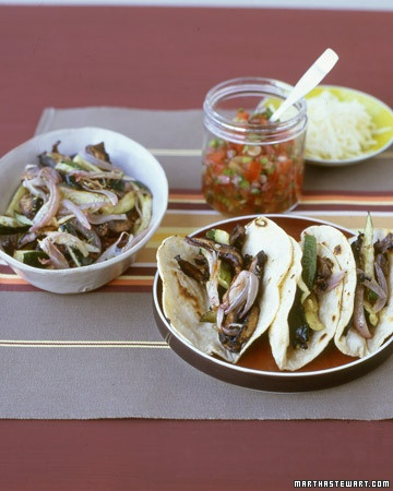 Portobello-and-Zucchini Tacos | Good Eats | Pinterest