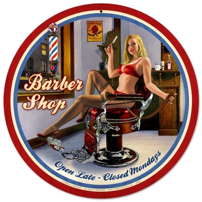 Vintage and Retro Wall Decor - JackandFriends.com - Retro Barber Shop