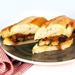 Grilled Eggplant Parmesan Sub. For grilling with my veggies!