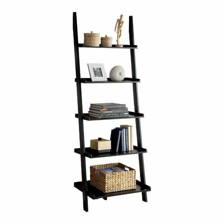 Quint 5 tier ladder bookshelf; black.  Furniture Fancy  Pinterest
