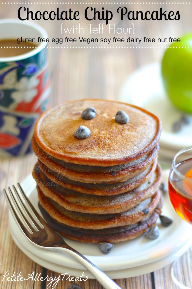Free Chocolate Chip Pancakes-PetiteAllergyTreats BEST GF pancake EVER ...