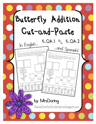 ... .com ~ Butterfly Addition Cut-and-Paste Word Problems Super Cute