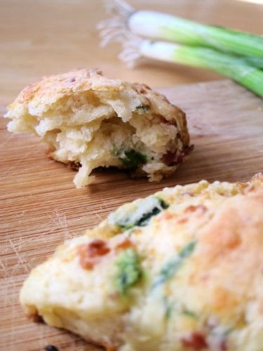 green garlic bacon and thyme savory scones with white pepper maple ...