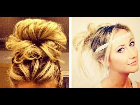 4 Easy No Heat Hair Styles: How to do Messy Buns!