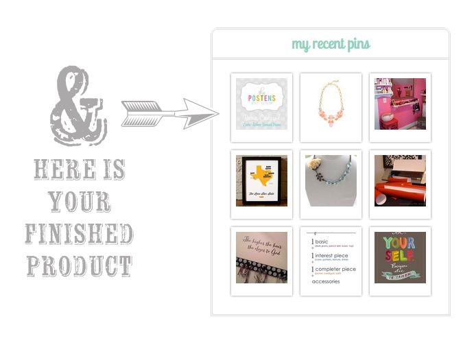 How to add a styled Pinterest Widget to your Blog - Super Easy!