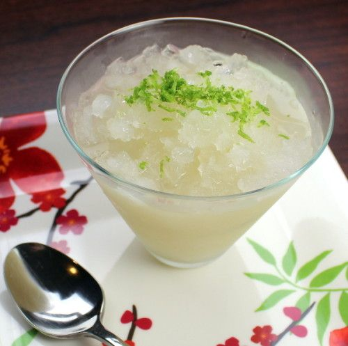 Margarita Granita - a slushy iced margarita treat