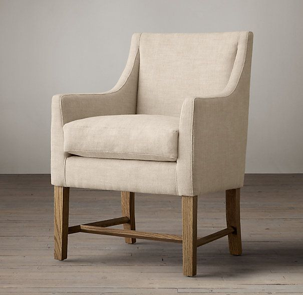beekman upholstered arm chair rh dining rooms pinterest