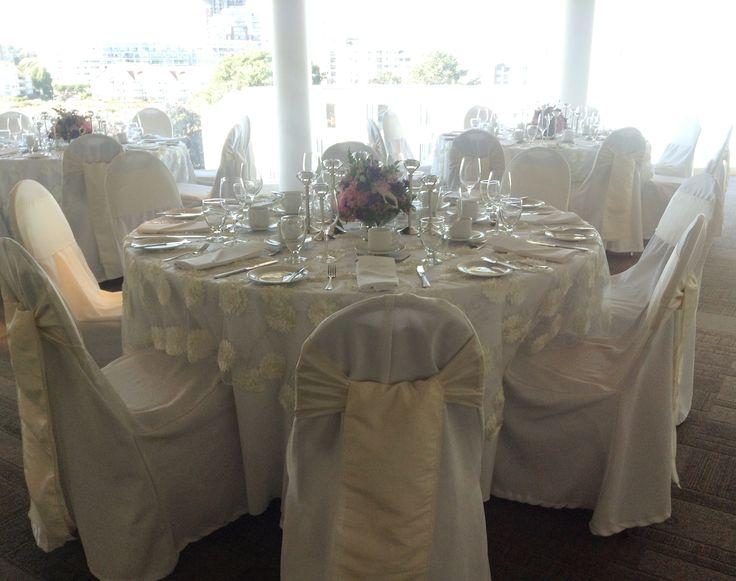 wedding dinner on Inn at Laurel Point's spectacular 5th floor