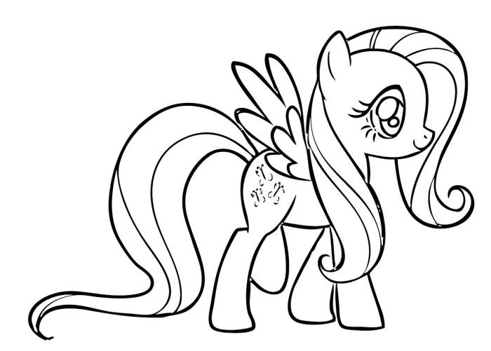 fluttershy coloring page - photo #9