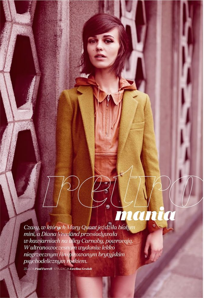 Retro Mania: #MartaDyks by #PaulFarrell for #EllePoland November 2014