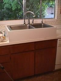 Raised Sinks and Faucets Help Bending Pain!